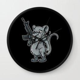 Rat Fighter Mammal Gift Wall Clock