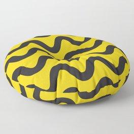 Yellow Ripple Floor Pillow