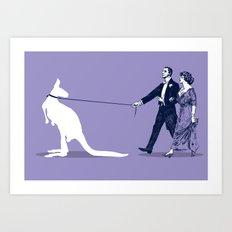 Walking the Kangaroo Art Print