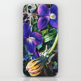 Dandelion with Violets iPhone Skin