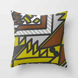 Geometric confusion Throw Pillow