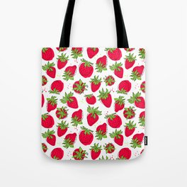 Juicy and ripe strawberries Tote Bag