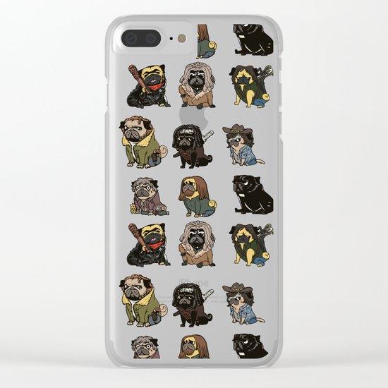 The Walking Pug Clear iPhone Case