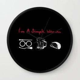 im a simple women Wall Clock