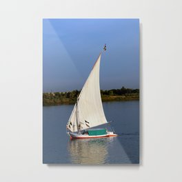 Felucca sailing along the Nile River Metal Print