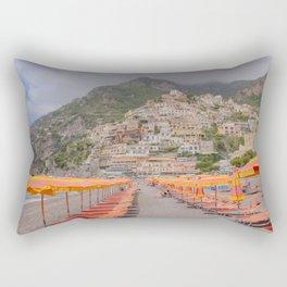 Pastel Hotels and Houses from Positano Beach - Amalfi Coast, Italy Rectangular Pillow