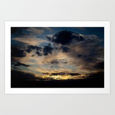 Phantasmagorical Sunset Art Print