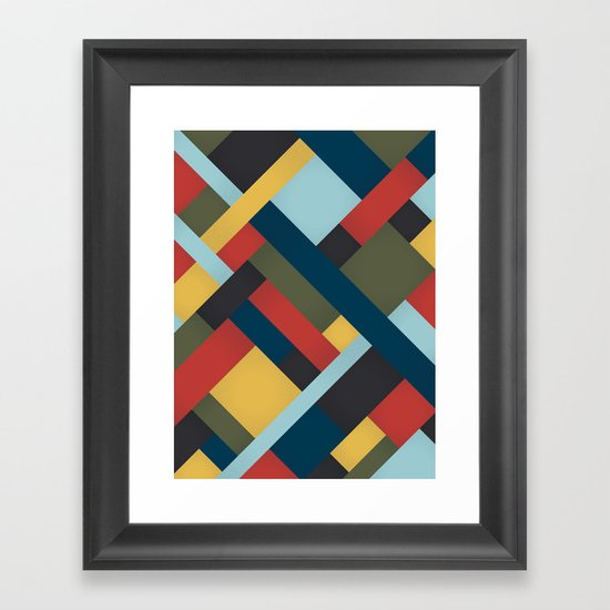 Abstrakt Adventure Framed Art Print