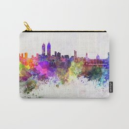 Mumbai skyline in watercolor background Carry-All Pouch