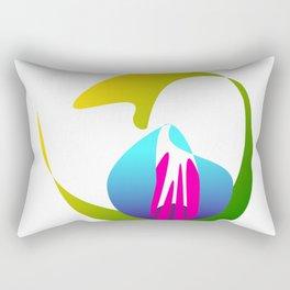 Midnight Lotus Rectangular Pillow