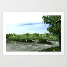 New Hope Lambertville Bridge Art Print