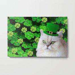 Patricks Irish Cat Metal Print