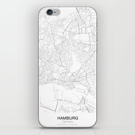 Hamburg, Germany Minimalist Map iPhone Skin