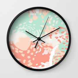 Pippa - minimal trendy gender neutral bright happy color palette nursery art Wall Clock