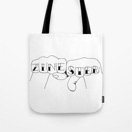 zinester knuckles (black & white) Tote Bag