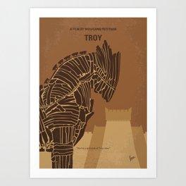No862 My Troy minimal movie poster Art Print