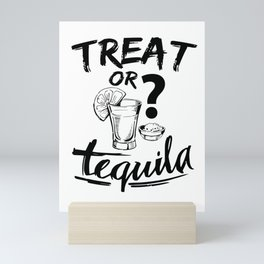 Halloween Party Costume Tequila alcohol gifts Mini Art Print