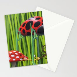 Lady bird and fly-agaric Stationery Cards