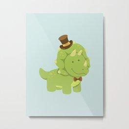 TriceraTOP-HAT Metal Print