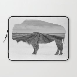 Bison and Prairie Road Blend BW Laptop Sleeve