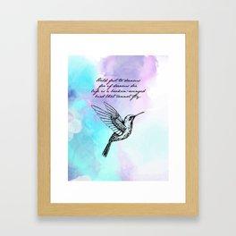 Langston Hughes - Hold Fast to Dreams Framed Art Print