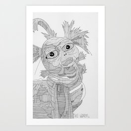 The Worm. Art Print