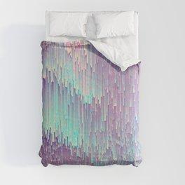 Iridescent Glitches Comforters