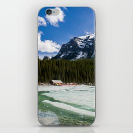 Canoeing in the Mountains iPhone Skin