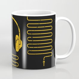 Gold Headphones Coffee Mug