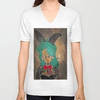 dragon ball V-neck T-shirts featuring First Lady Of Dragon Ball  by Artistic