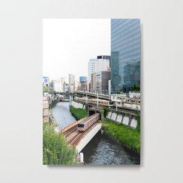 Ochanomizu Trains Metal Print