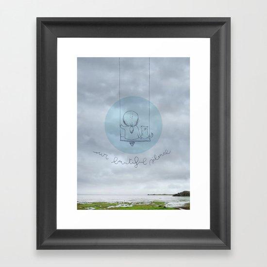 Our beautiful silence. Framed Art Print