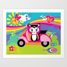 Baby Scoot ( Girls ) Art Print