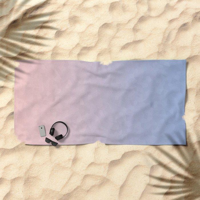 Rose Quartz and Serenity Mosaic Crystals Beach Towel