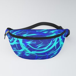 Circles on the water glowing from the inside. Fanny Pack