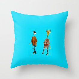 Miss Messy & Gwendolen Throw Pillow