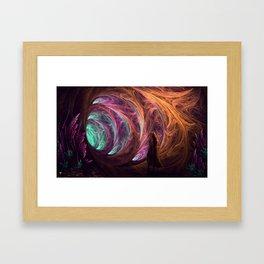 Towards The Light - Alice in Wonderland - White Rabbit - Fractal Framed Art Print