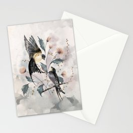 Sweet Barn Swallow Birds Stationery Cards