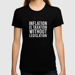 Funny Inflation Quote Economist Accountant T-shirt