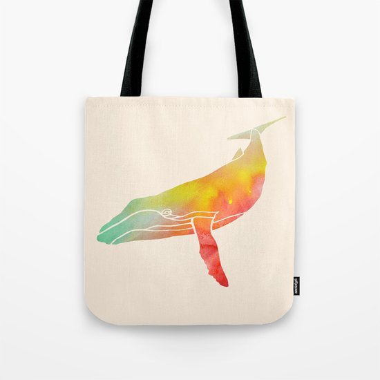 Watercolor Whale Tote Bag