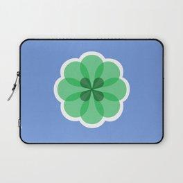 Purple and green geometric flower Laptop Sleeve