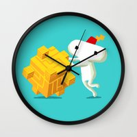 fez Wall Clocks featuring The Prince with a FEZ by MeleeNinja