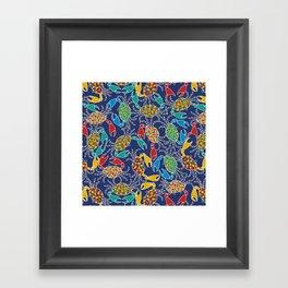 Crab Pinchers Framed Art Print