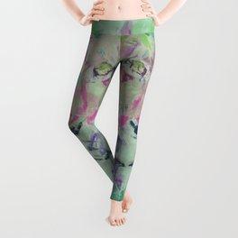 Neon Lion Art Print Leggings