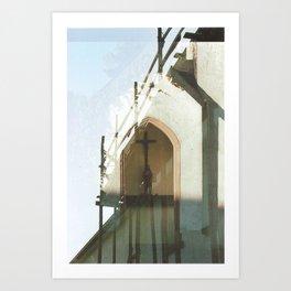 Christianity in Construction - overlapper Art Print