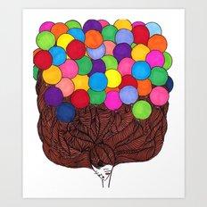 Balloon Head Art Print