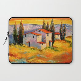 Settlement in the mountains Laptop Sleeve