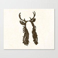 Deer Woman Canvas Print