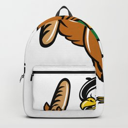American Eagle Beret Baguette Wine Cartoon Backpack