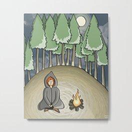 Campfire Girl Metal Print